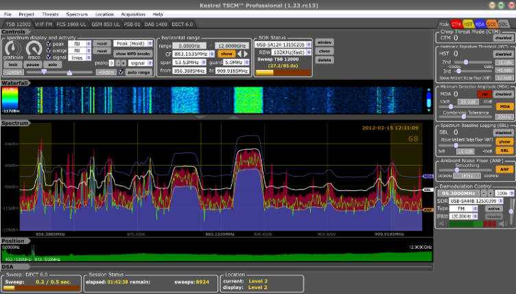 Kestrel TSCM Professional Software | TSCM | SIGINT News 2012